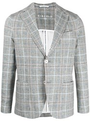 Circolo 1901 Checked Print Single Breasted Blazer 60