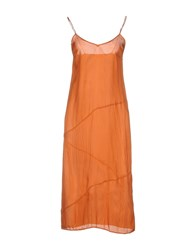 Cnc Costume National 3 4 Length Dresses Orange