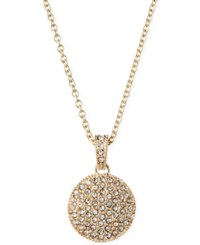Judith Jack 14K Gold Plated Marcasite Crystal Circle Pendant Necklace