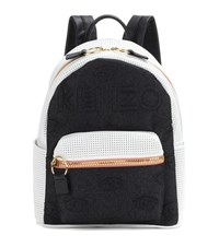 Kenzo Kombo Leather And Fabric Backpack Multicoloured