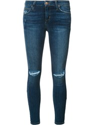 Joe's Jeans Distressed Skinny Blue