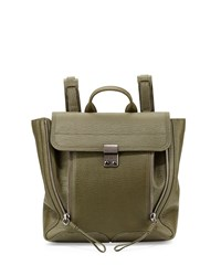 Pashli Leather Zip Backpack Military 3.1 Phillip Lim