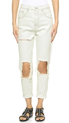 Unif High Rise Costa Jeans Dirty White