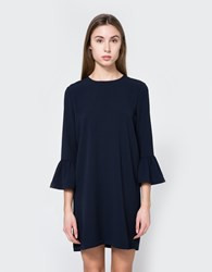 Ganni Clark Dress In Total Eclipse