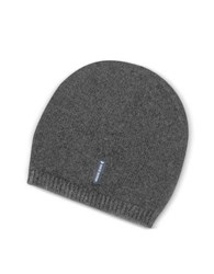 Armani Jeans Solid Pure Cashmere Men's Beanie Dark Gray