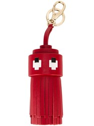 Anya Hindmarch 'Space Invader' Tassel Keyring Red