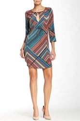 Glam Printed Dress Multi