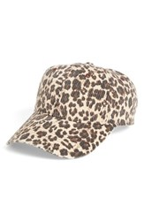 The Accessory Collective Women's Leopard Print Baseball Cap