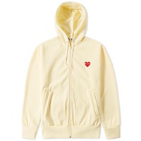 Comme Des Garcons Play Full Zip Hoody Neutrals