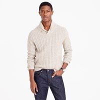 J.Crew Cotton Mariner Shawl Collar Sweater