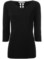 D.Exterior V Neck Sweatshirt Black