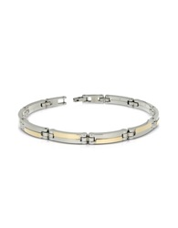 Zoppini Zo Chain Stainless Steel And 18K Gold Men's Bracelet Silver