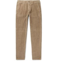 Altea Slim Fit Tapered Cotton Corduroy Trousers Beige