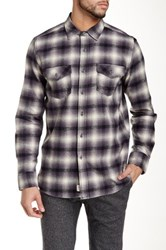 Micros Rainier Long Sleeve Plaid Shirt Gray