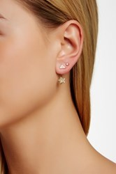Ariella Collection Star Jacket And Pave Triangle Stud Earrings Set No Color