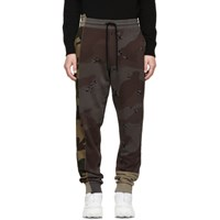 Off White Multicolor Camo Reconstructed Lounge Pants