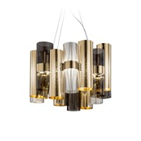 Slamp La Lollo Pendant Gold Fume Blue