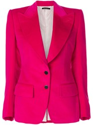 Tom Ford Fitted Blazer Pink And Purple