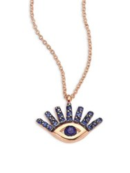 Kismet By Milka Evil Eye Sapphire And 14K Yellow Gold Pendant Necklace