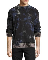 Prps Multi Stained Raglan Sweatshirt Black