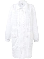 Adidas By Stella Mccartney Training Parka Coat White