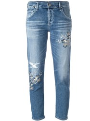 Citizens Of Humanity Distressed Skinny Jeans Blue
