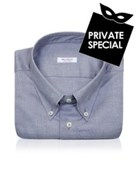 Del Siena Slim Fit Cotton Dress Shirt Blue