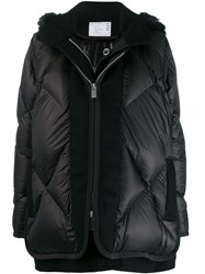 Sacai Layered Padded Coat Black