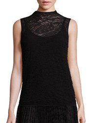 Lafayette 148 New York Chantilly Sleeveless Knit Top Black