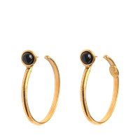 Sylvia Toledano Onyx Hoop Earrings