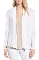 Vince Camuto Women's Two By High Low Linen Cardigan Ultra White