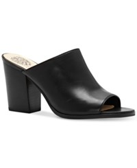Vince Camuto Anabi Peep Toe Mules Women's Shoes Black Nappa