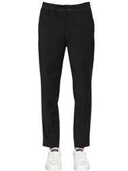 Dolce And Gabbana Stretch Wool Blend Pants Black