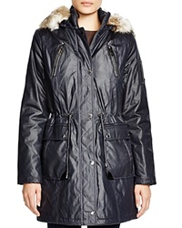 Laundry By Shelli Segal Anorak With Faux Fur Trim
