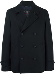 Paul And Shark Double Breasted Short Coat Blue