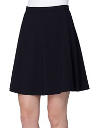 Tahari By Arthur S. Levine Petite Pleated Fit And Flare Skirt Navy