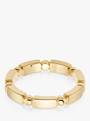 Daisy London Stacked Chunky Bead And Bar Ring Gold