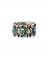 Armenta New World Multi Stone Triple Row Band Ring No Color
