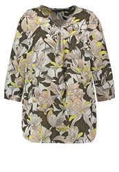 Dorothy Perkins Curve Tropical Tunic Green