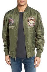 Schott Nyc Men's B 52 Bomber Jacket Sage