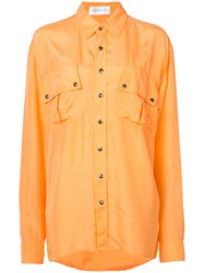 Faith Connexion Contrast Shirt Women Silk S Yellow Orange