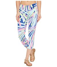 Lilly Pulitzer Upf 50 Luxletic Weekender Cropped Pant Indigo Sea Dreamin Women's Casual Pants Multi