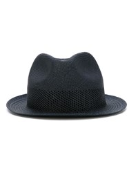 Paul Smith Red Ear Woven Trilby Hat Blue