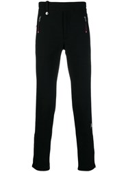 Alexander Mcqueen Logo Embroidered Track Pants Black