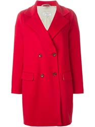 Alberto Biani Double Breasted Coat Red