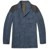 Nigel Cabourn Classic Mallory Jacket Raf Blue Harris Tweed