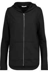 Yummie Tummie By Heather Thomson Jersey Hooded Sweatshirt Black