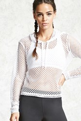 Forever 21 Active Mesh Hoodie White