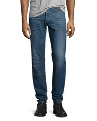 Diesel Buster L32 Faded Straight Leg Jeans Blue
