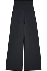 Christophe Lemaire Lemaire Stretch Cotton Blend Jersey Wide Leg Pants Midnight Blue